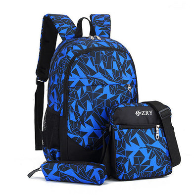 3pcs USB School backpacks