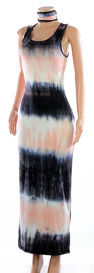 Sleeveless Tie Dye Maxi w Mask