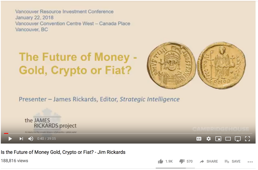 The Future of Money - Gold, Crypto or Fiat?