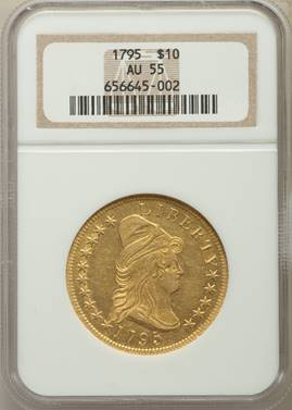 1795 Draped Bust Eagle  NGC AU55