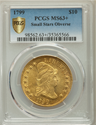1799 Small Stars Obv. Draped Bust Eagle  PCGS MS63+