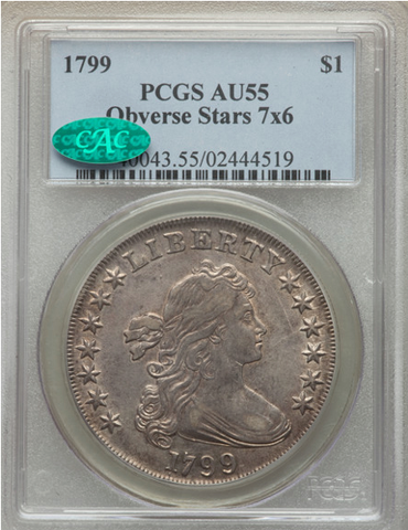 1799 Draped Bust Dollar PCGS/CAC AU55