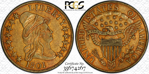 1801 Draped Bust Eagle PCGS XF40