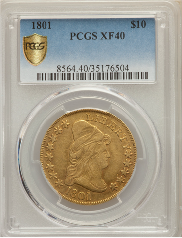 1801 Draped Bust $10 Gold Eagle PCGS XF40