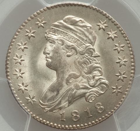 1818 Capped Bust Quarter  PCGS MS65