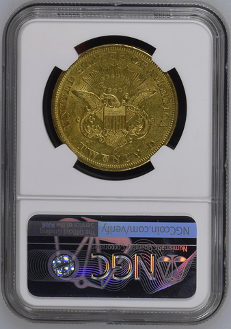 1850-O $20 Liberty Double Eagle  NGC AU58