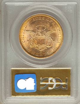 1857-S S.S. Central America Liberty Double Eagle PCGS/CAC MS65