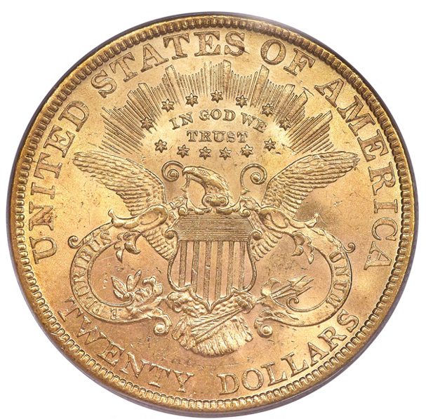 1878 Liberty Double Eagle PCGS MS63