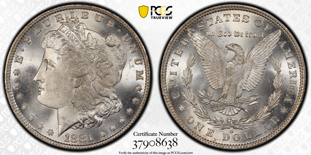 1881-O Morgan Dollar PCGS MS66