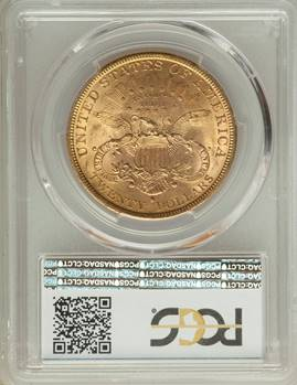 1881-S Liberty Double Eagle  PCGS MS63