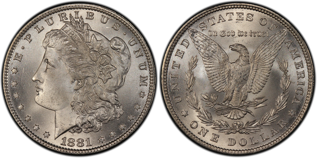 1881 Morgan Silver Dollar (9 of 50) - (R3)  - As part of the (50) and (10) coin set, this coin is available. As a single coin purchase in this venue, refer below.