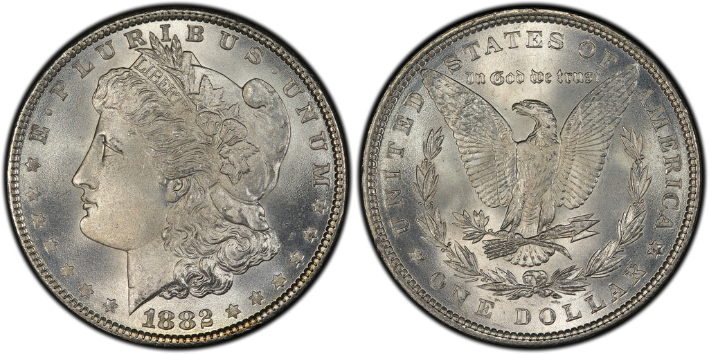 1882 Morgan Silver Dollar (12 of 50) - (R3)  - As part of the (50) and (10) coin set, this coin is available. As a single coin purchase in this venue, refer below.