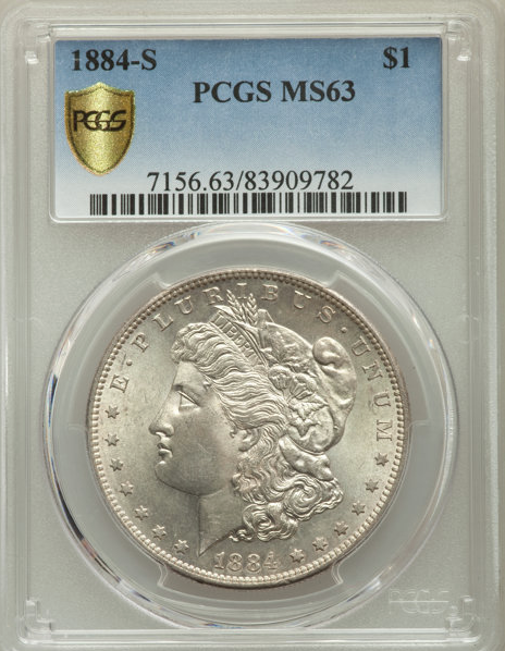 1884-S Morgan Dollar PCGS MS63