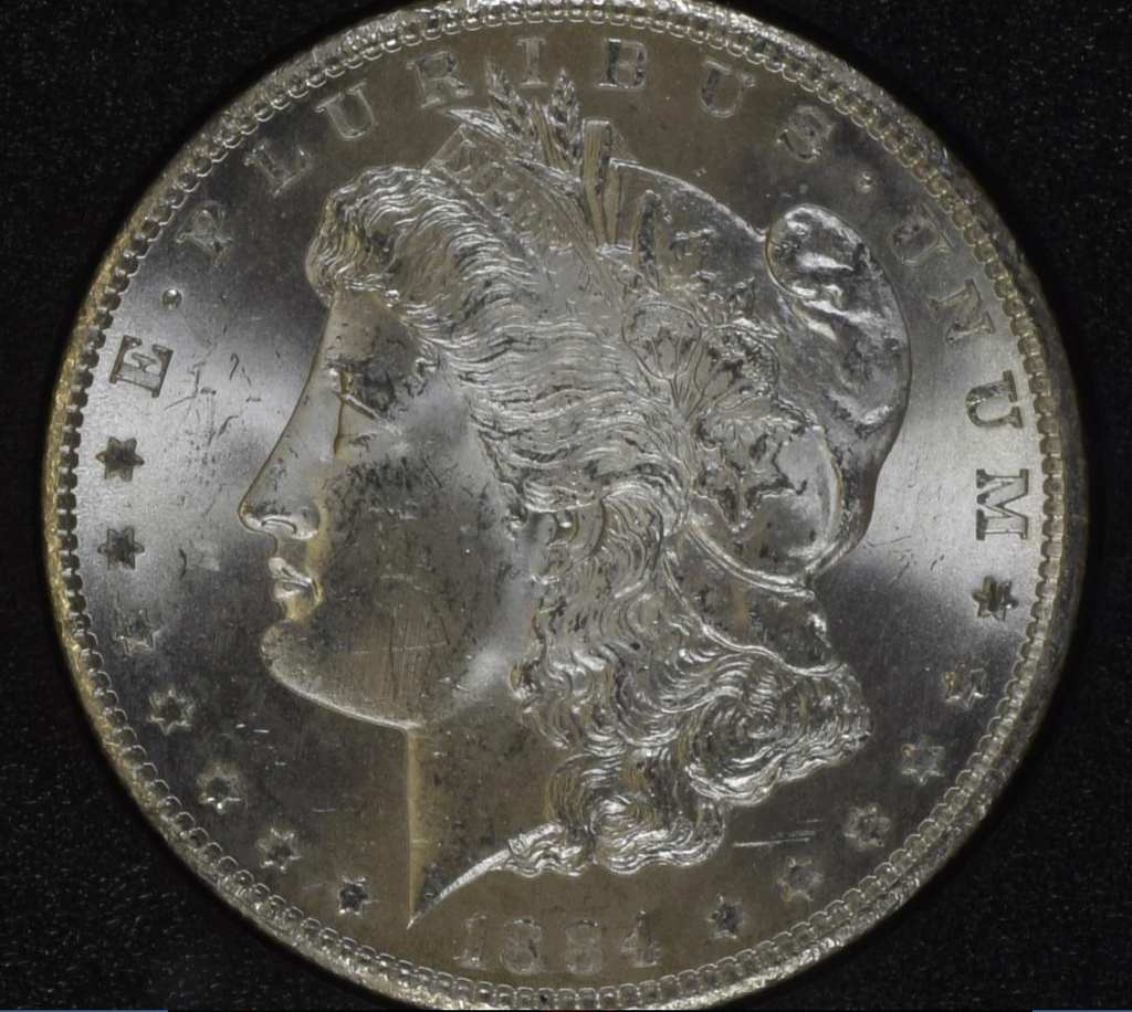 "1884 CC ""GSA HOARD"" $1 NGC MS64 (#17 of Top 20) Morgan Silver Dollar"