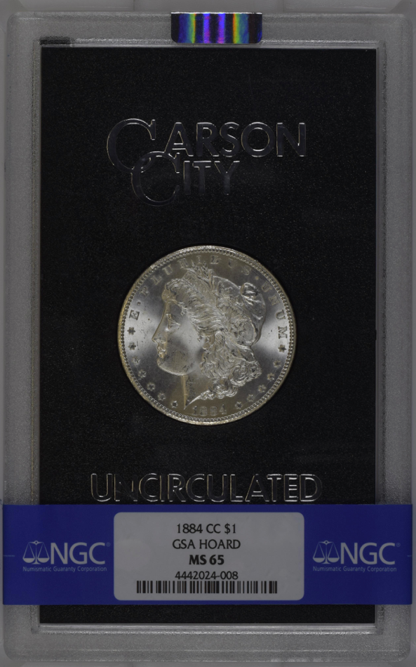 "1884 CC ""GSA HOARD"" - GEM - $1 NGC MS65 (#17 of Top 20) Morgan Silver Dollar"