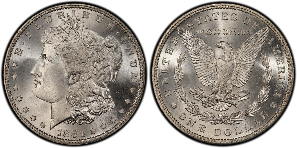 1884 Morgan Silver Dollar (18 of 50) - (R3)  - As part of the (50) and (10) coin set, this coin is available. As a single coin purchase in this venue, refer below.