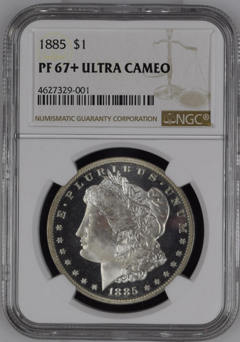 1885 Morgan Dollar  NGC PR67+ Ultra Cameo