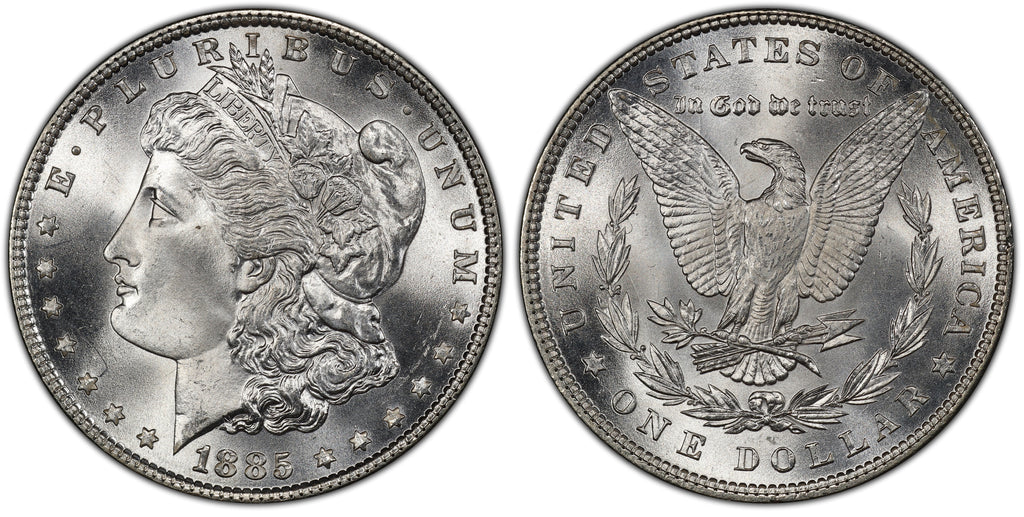 1885 Morgan Silver Dollar (21 of 50) - (R1)  - As part of the (50) and (10) coin set, this coin is available. As a single coin purchase in this venue, refer below.