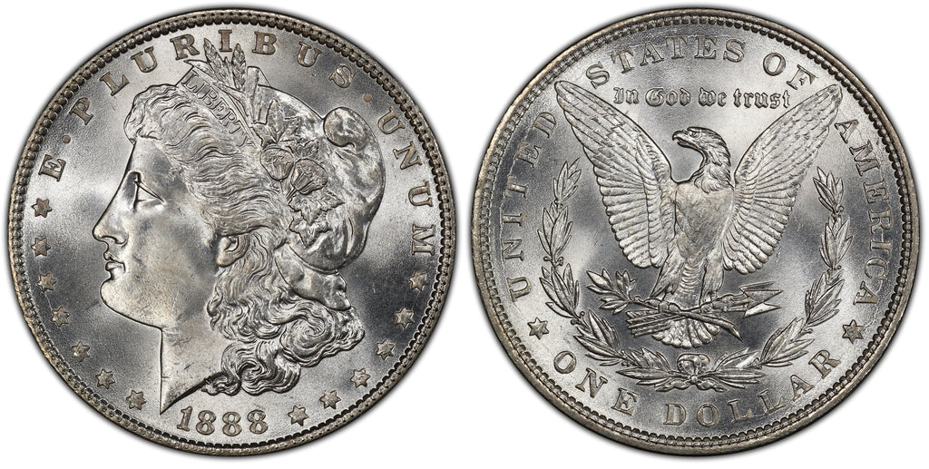 1888 Morgan Silver Dollar (26 of 50) - (R1)  - As part of the (50) and (10) coin set, this coin is available. As a single coin purchase in this venue, refer below.