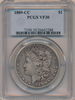 Image of 1889-CC PCGS VF30 (Rarest of the Carson City Collection) SOLD