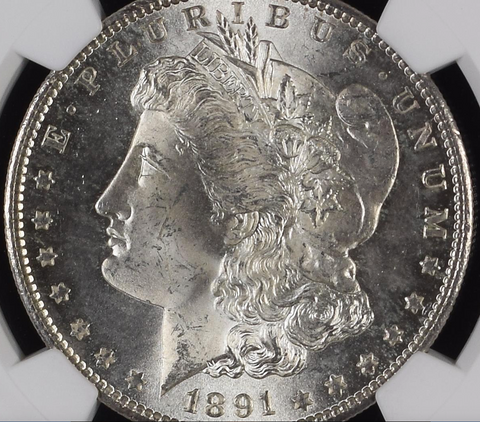 1891-S NGC MS65 - Morgan Silver Dollar