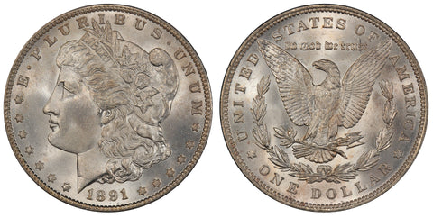 1891 Morgan Silver Dollar (32 of 50)  - (R4)  - As part of the (50) and (10) coin set, this coin is available. As a single coin purchase in this venue, refer below.