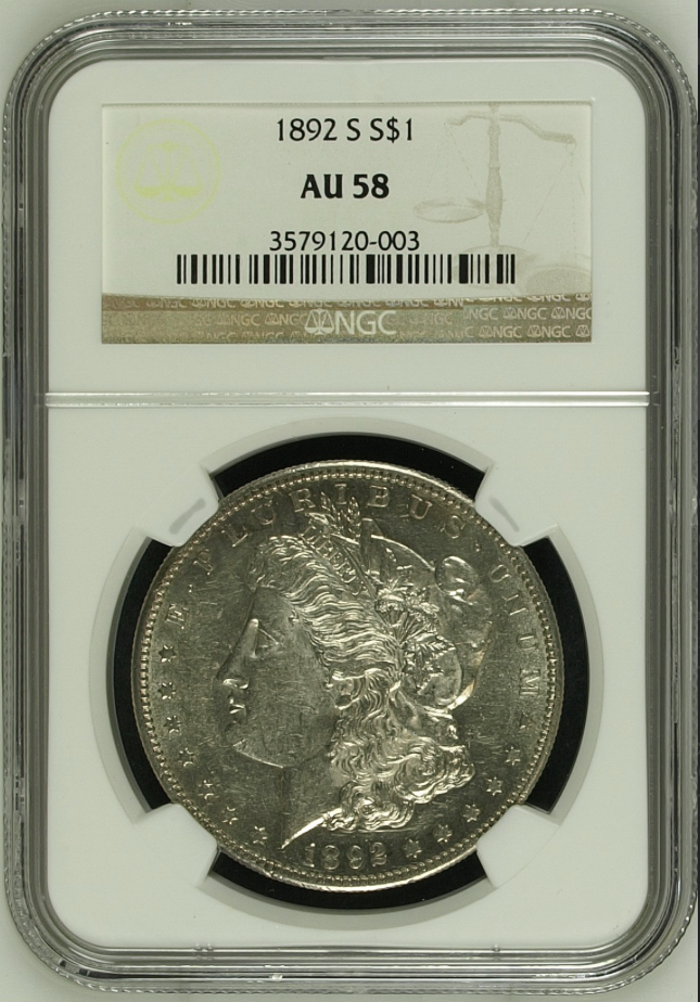 1892-S Morgan Dollar NGC AU58 (#18 of Top 20)