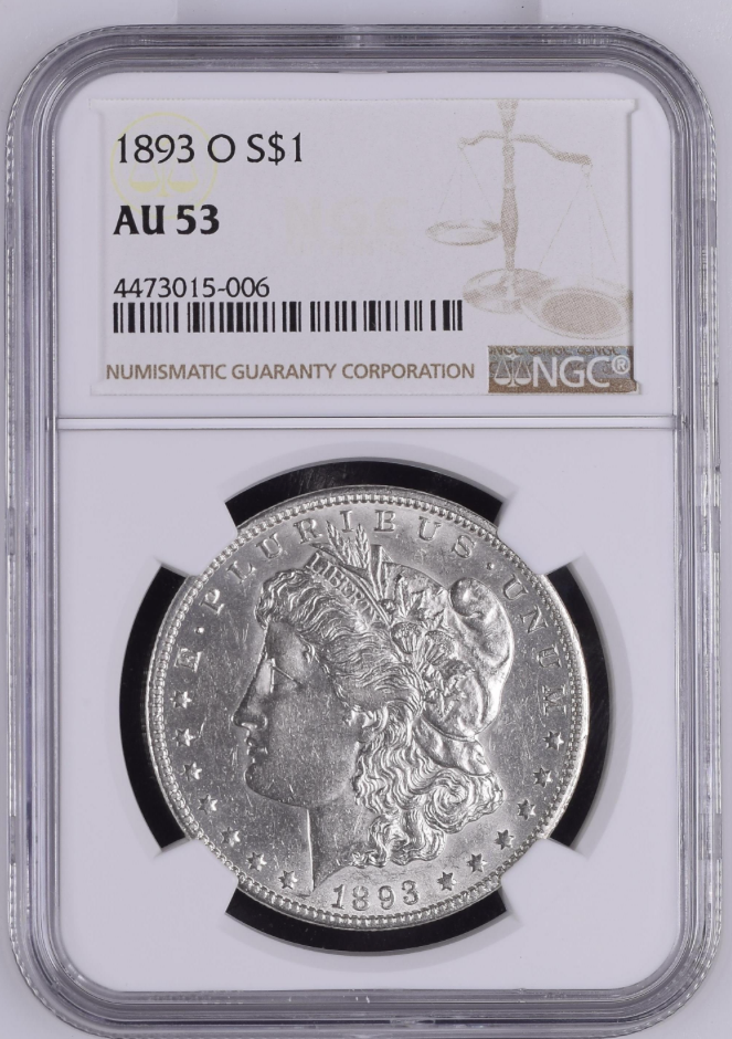 "1893-O NGC AU-53 ""Key Date"" (#10 of Top 10) (SOLD)"