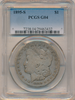 Image of 1895-S PCGS G4 (Key Date) SOLD