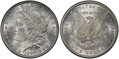 1896 Morgan Silver Dollar (34 of 50) - (R2)  - As part of the (50) and (10) coin set, this coin is available. As a single coin purchase in this venue, refer below.