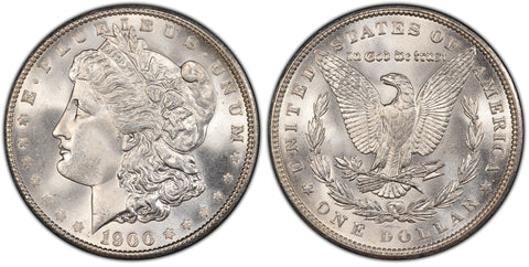 1900 Morgan Silver Dollar (40 of 50) - (R2)  - As part of the (50) and (10) coin set, this coin is available. As a single coin purchase in this venue, refer below.