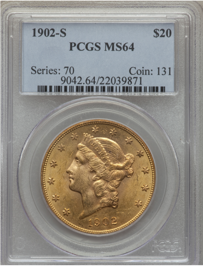 "1902-S PCGS MS64 ""Scintillating"" Double Eagle"