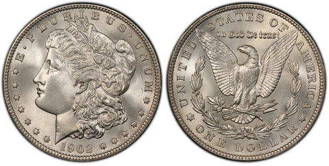 1902 Morgan Silver Dollar (43 of 50)  - (R4)  - As part of the (50) and (10) coin set, this coin is available. As a single coin purchase in this venue, refer below.