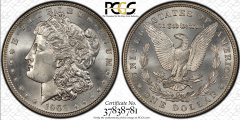 1903 $1 Morgan Dollar PCGS MS67+