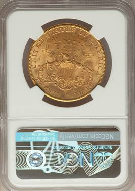 1906-S Liberty Double Eagle NGC MS65