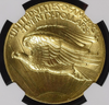 Image of 1907 Wire Rim High Relief Double Eagle  NGC MS67