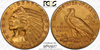 Image of 1908-S Indian Half Eagle  PCGS/CAC MS64+