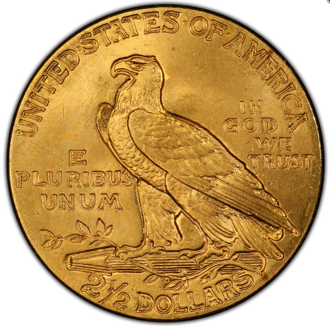 $2.5 Indian US Gold Coin, minted from 1908-1929
