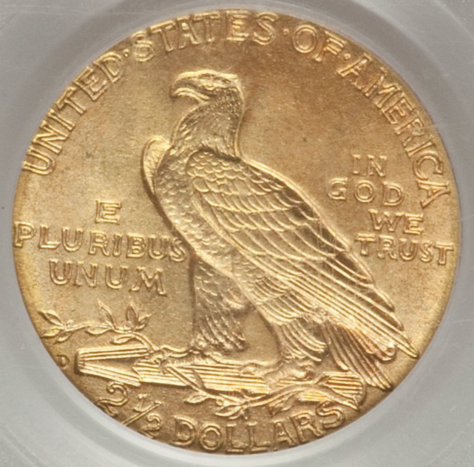 1911-D (Strong D) Quarter Eagle  PCGS MS66