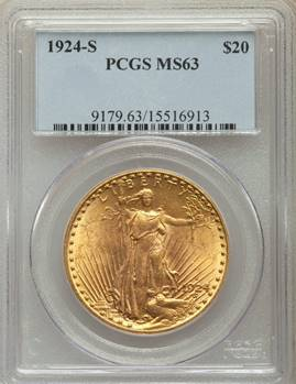 1924-S Saint Gaudens Double Eagle