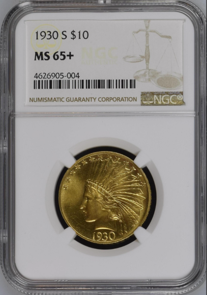 1930-S $10 Indian Head Eagle NGC MS65+