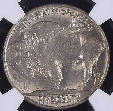 (Gem) 1937-D Three Legged Buffalo Nickel  NGC MS65