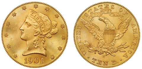 $10 Liberty US Gold Coins