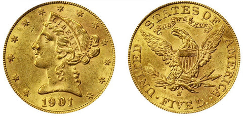 $5 Liberty US Gold Coin