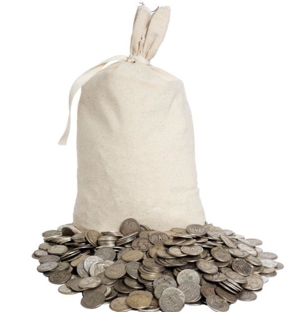 Silver Bags of Coins (Due to the fast moving markets CALL) Many online options on this site don't have live feeds to the market.