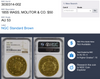 Extremely Impressive $50 Rarity 1850 Wass. Molitor & Co. $50 NGC AU53