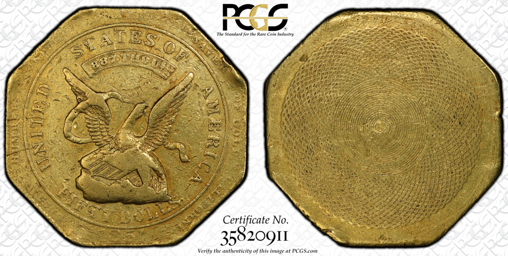 """He Ain't Heavy"", but this $50 is – 1851 R.E. Humbert $50  PCGS VF30"