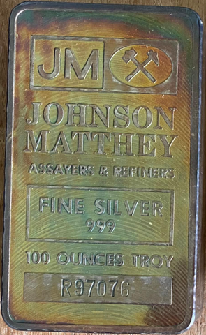 SOLD OUT - Engelhard & Johnson Matthey- 100oz Silver Bars- All Silver is CME & London Approved (Spot + $6.75)- Call for the