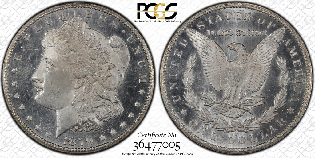 Just Two Graded Higher by PCGS - 1879-CC Morgan Dollar PCGS MS65PL