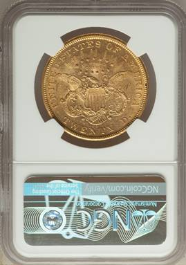 Nearly Mint State 1874-CC Liberty Double Eagle NGC AU58